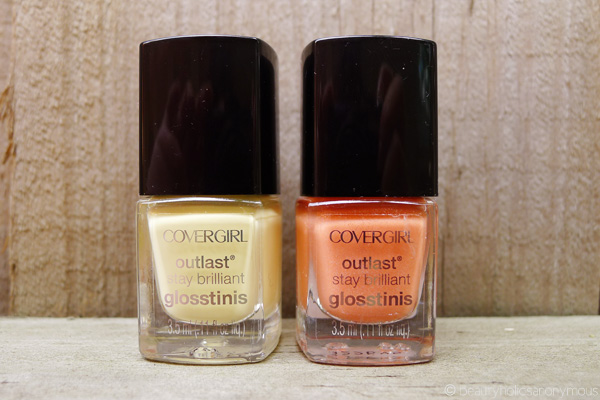 Covergirl Outlast Stay Brilliant Glosstinis in Pina Colada and Bahama Mama
