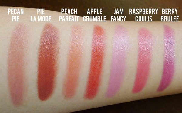 Face of Australia Glossy Lip Crayons Swatches