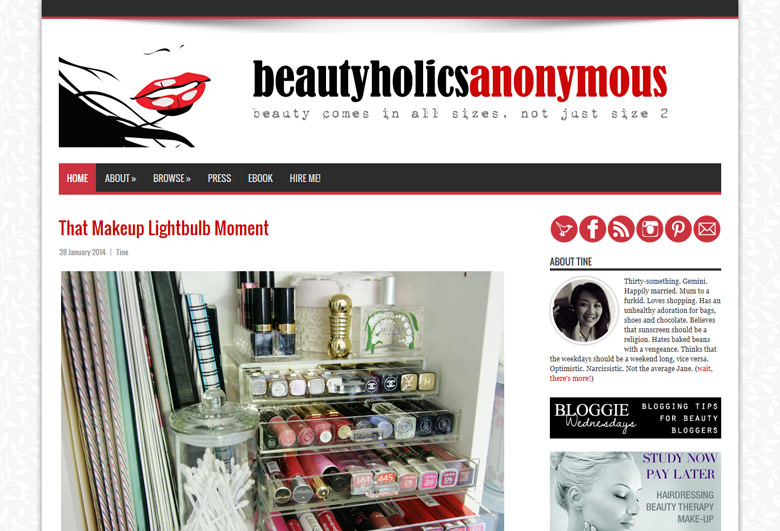 Old Beautyholics Anonymous Design for 2014
