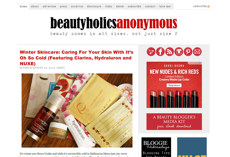 Old Beautyholics Anonymous Design