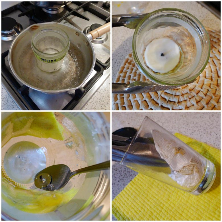 Cleaning and Recycling Candle Glass Jars