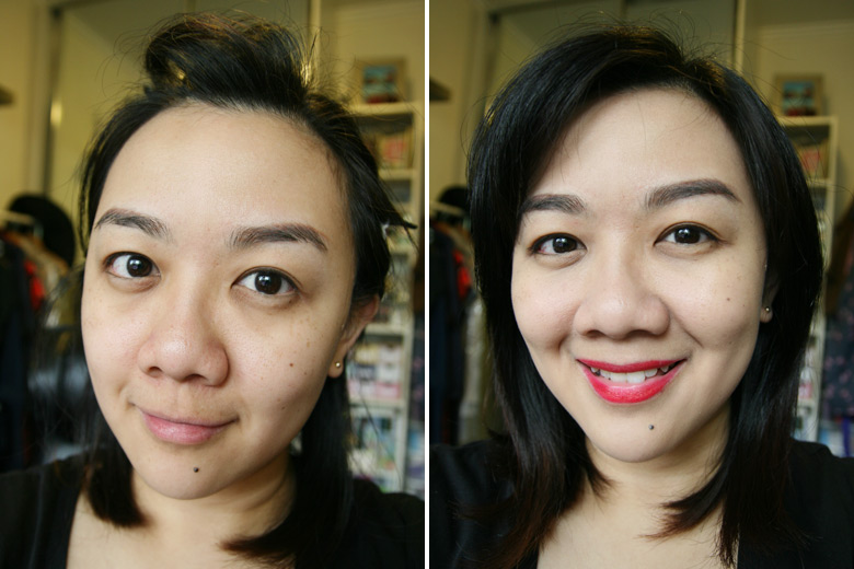 Makeup Utopia Express Makeup Look Before and After