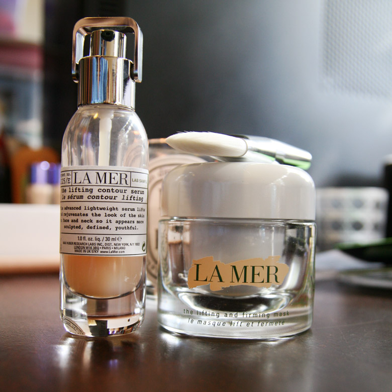 La Mer The Lifting Contour Serum and The Lifting and Firming Mask