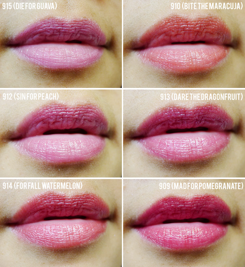 L'Oreal Glam Shine Balmy Gloss Lip Swatches