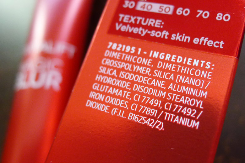 L'Oreal Revitalift Magic Blur Ingredients