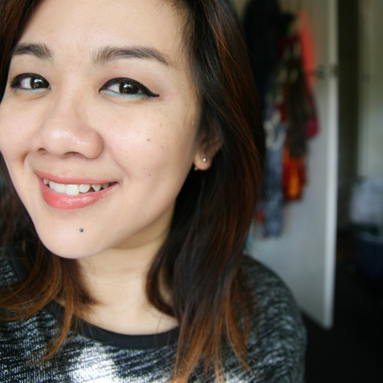FOTD featuring NARS Eyeshadow Duo in China Seas Makeup Used