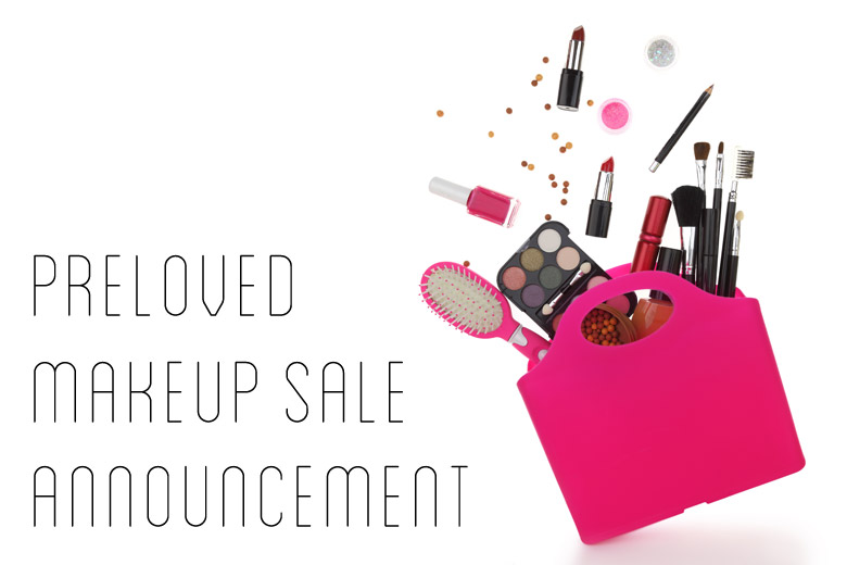 Preloved Makeup Sale Announcement