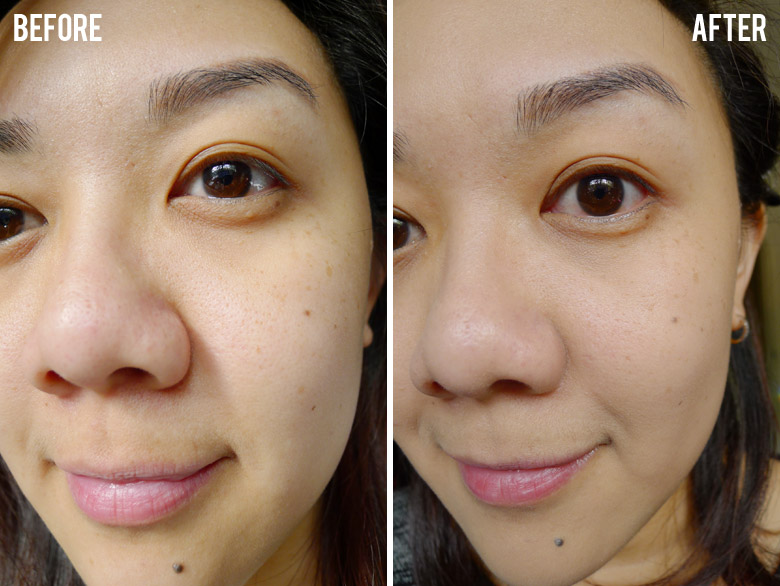 Chanel Perfection Lumiere Velvet Smooth-Effect Makeup Before and After