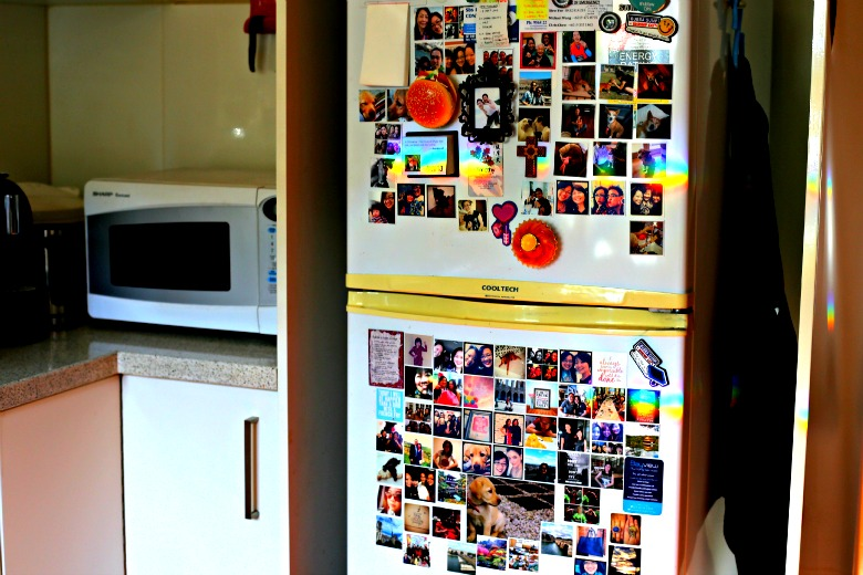 Instagram Magnets on Fridge
