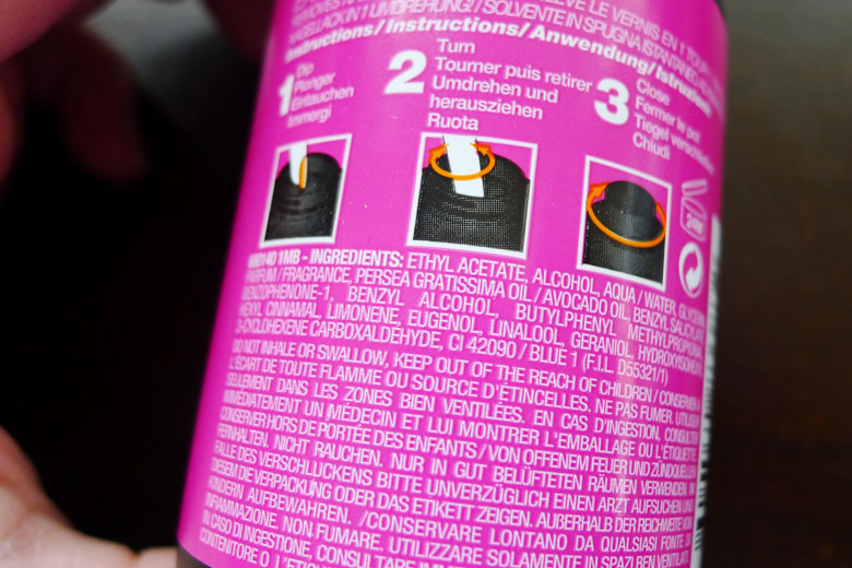 Maybelline Express Remover Ingredients