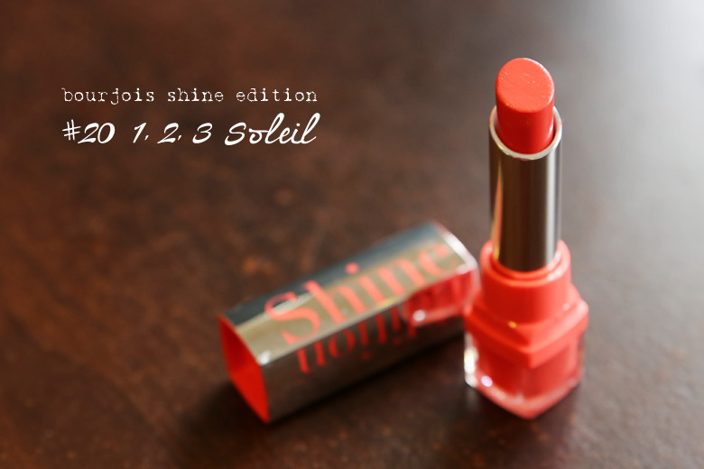 Read My Lips: Bourjois Shine Edition in #20 1, 2, 3 Soleil