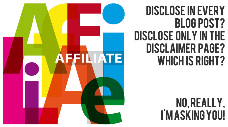 Bloggie Wednesday: Do You Disclose Your Affiliate Links In All Of Your Blog Posts?