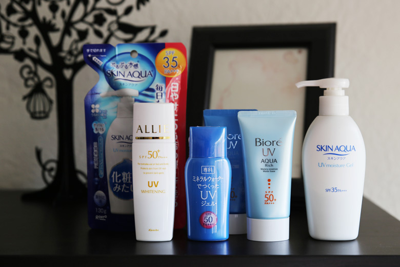My favourite Japanese sunscreens