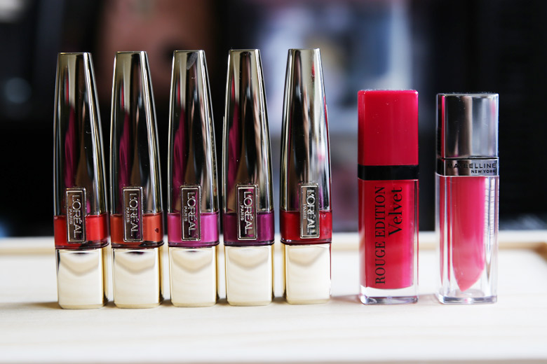 The Lip Product Addict Tag L'Oreal, Bourjois, Maybelline