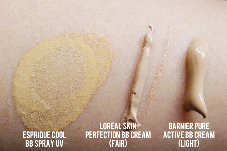BB Creamology: Esprique by KOSE, L'Oreal and Garnier Swatches