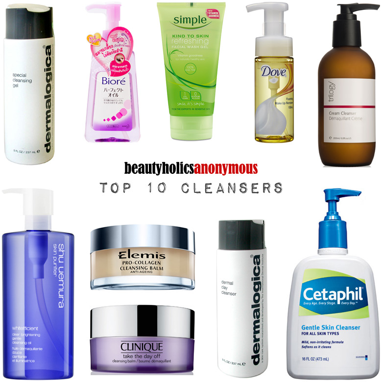 Week of Skincare Favourites 2014: My Top 10 Cleansers