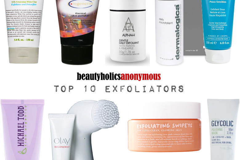 Week of Skincare Favourites 2014: My Top 10 Exfoliators