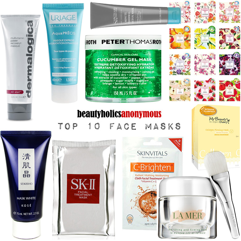 Week of Skincare Favourites 2014: My Top 10 Facial Masks