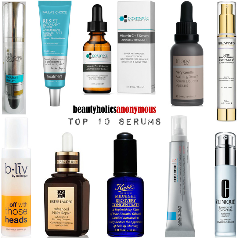 Week of Skincare Favourites 2014: My Top 10 Serums
