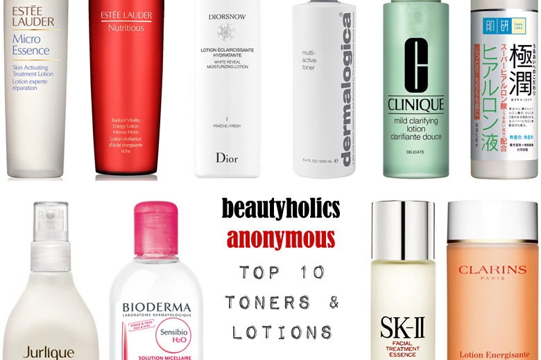 Week of Skincare Favourites 2014: My Top 10 Toners and Lotions
