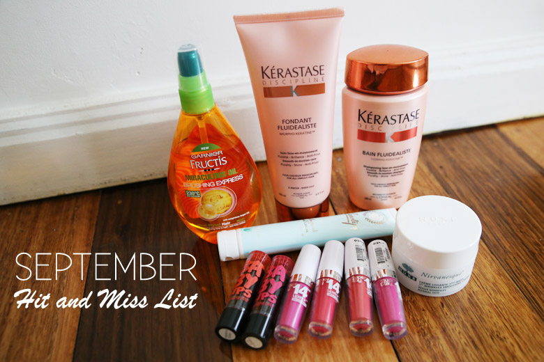 September Hit and Miss List