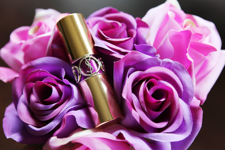 Read My Lips: YSL Rouge Volupte Shine in #19 Fuchsia in Rage