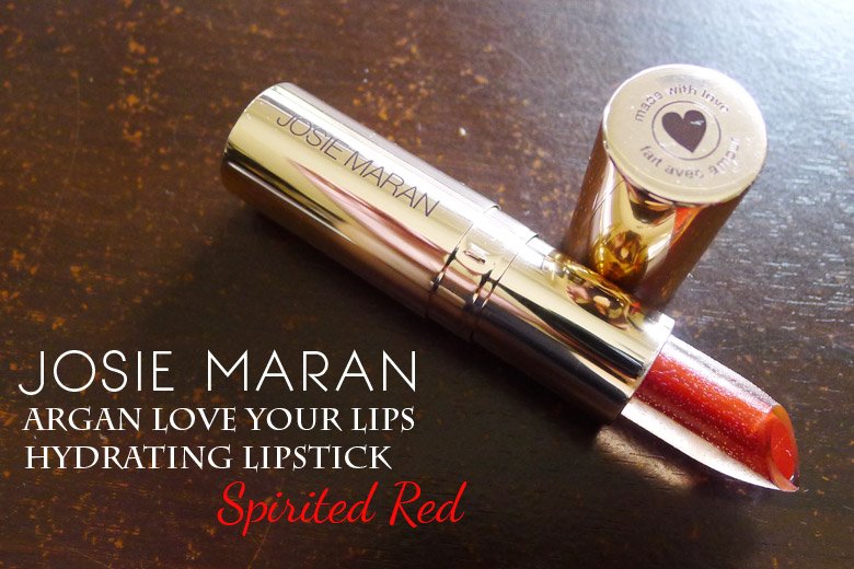 Read My Lips: Josie Maran Argan Love Your Lips Hydrating Lipstick in Spirited Red
