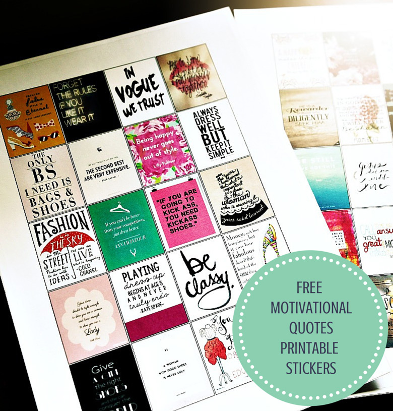 Free Erin Condren Motivational Quotes Printable Stickers