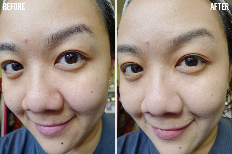 Estee Lauder Re-Nutriv Ultra Radiance Lifting Creme Makeup Before and After