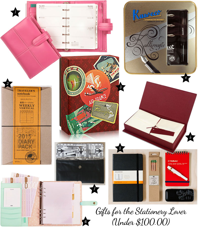 Christmas Gift Guide 2014: For The Stationery Lover Under $100