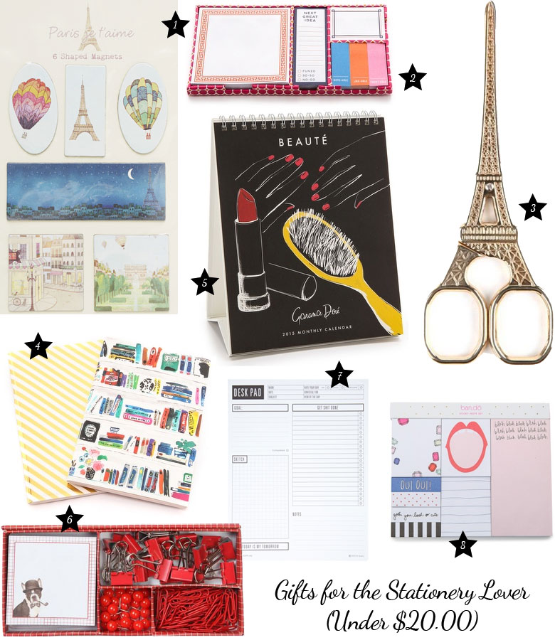 Christmas Gift Guide 2014: For The Stationery Lover Under $20