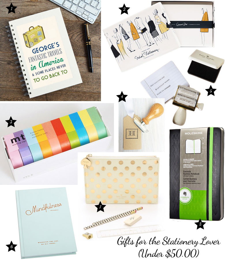Christmas Gift Guide 2014: For The Stationery Lover Under $50