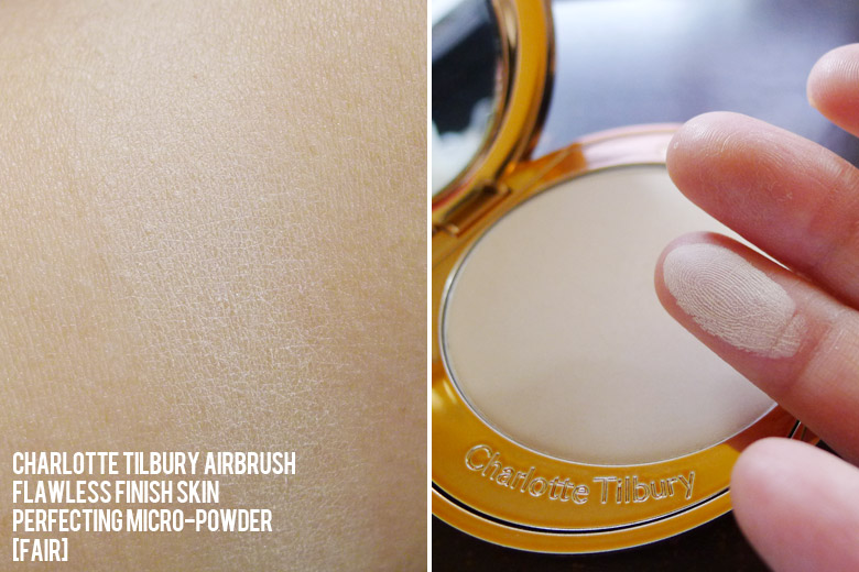 Charlotte Tilbury's Airbrush Flawless Finish Skin Perfecting Micro-Powder in Fair Swatch