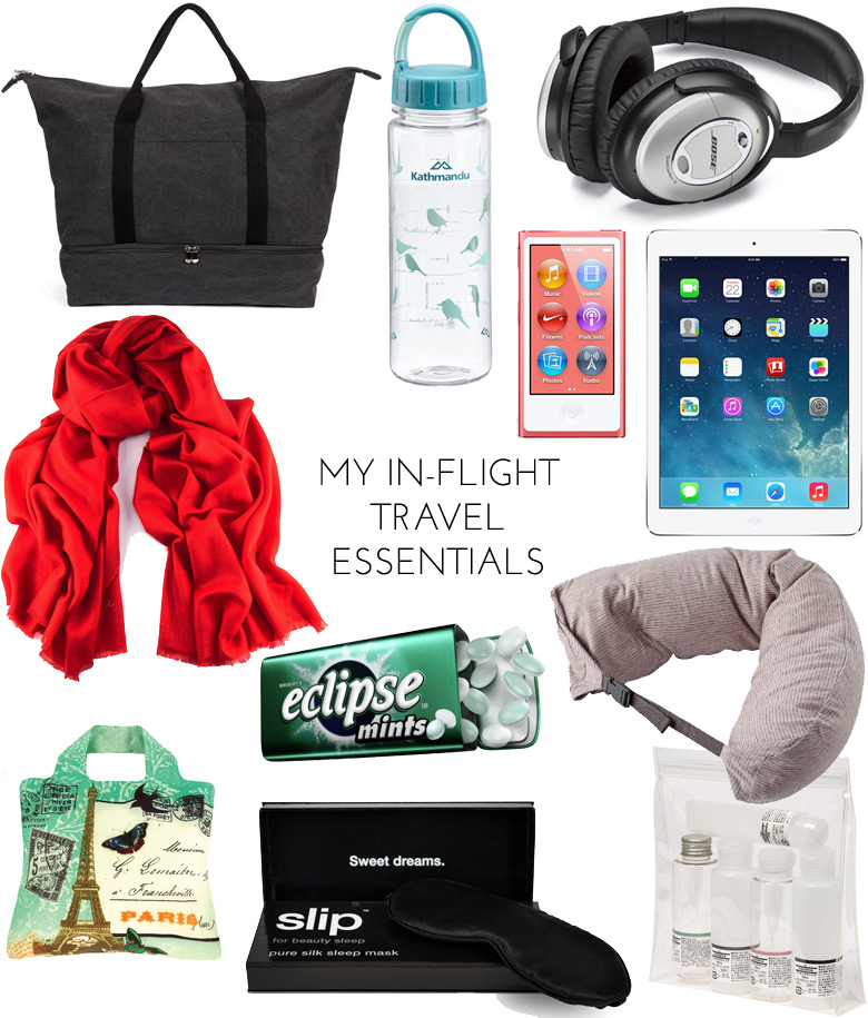 Travel Mini Series : My In-Flight Travel Essentials