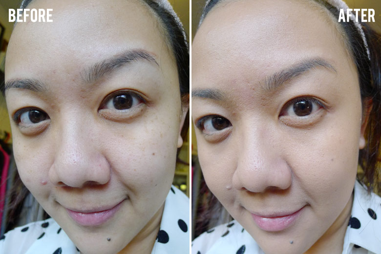 Clinique 2-in-1 Beyond Perfecting Foundation + Concealer Before and After