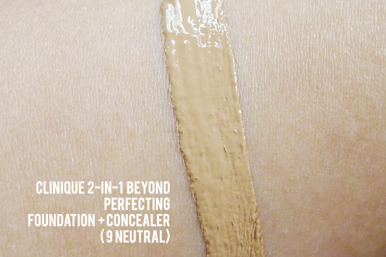 Clinique 2-in-1 Beyond Perfecting Foundation + Concealer Swatch