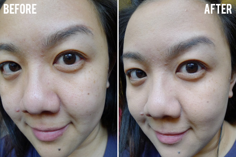 Mary Kay Endless Performance Creme-to-Powder Foundation Before and After