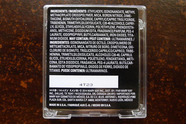 Mary Kay Endless Performance Creme-to-Powder Foundation Ingredients