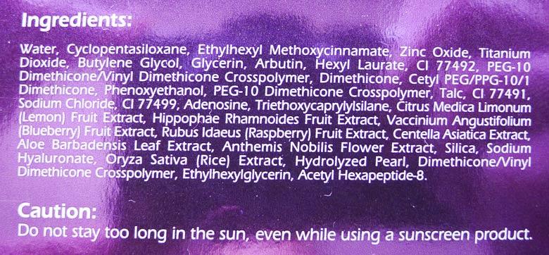 Clinelle Miracle Aqua Capsule EE Even Effect Cream Ingredients