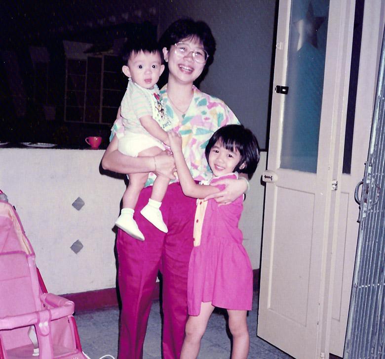 Boy Mum and me 1985