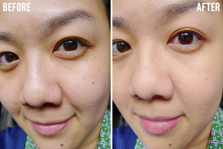 Dior Nude Air Serum de Teint Before and After