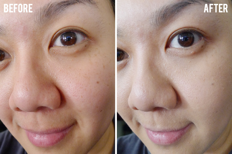 IT Cosmetics CC+ Colour Correcting Full Coverage Cream Before and After