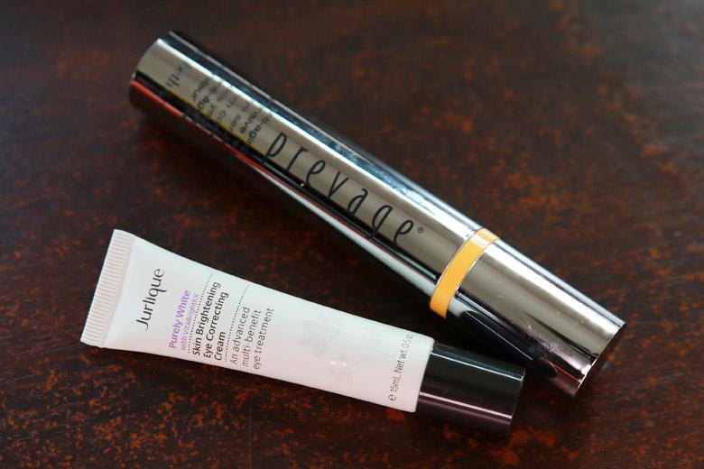 Elizabeth Arden Prevage Anti Aging Intensive Eye Serum and Jurlique Purely White Eye Cream