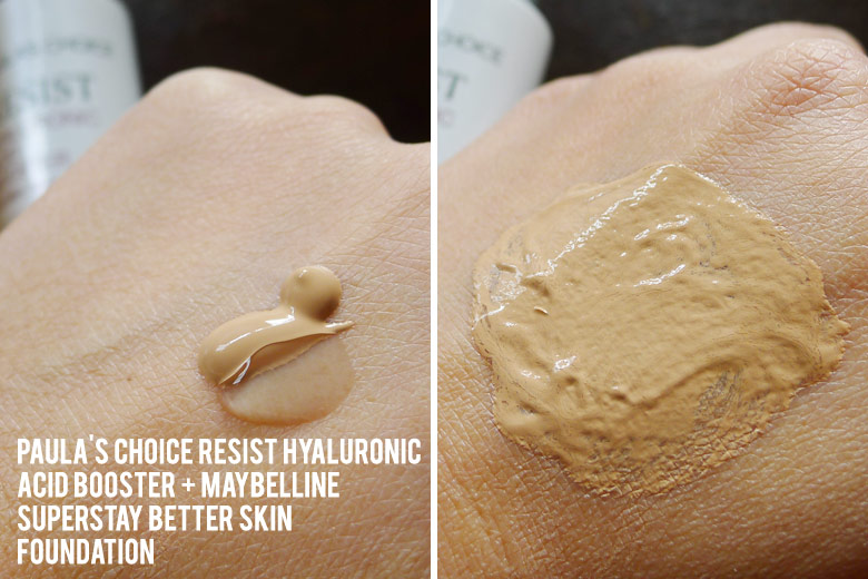 Mixing Maybelline Superstay Better Skin Foundation With Paula's Choice Resist Hyaluronic Acid Booster