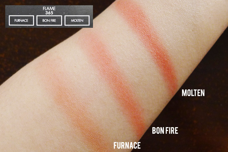 Sleek Blush By 3 Palette in Flame Swatches
