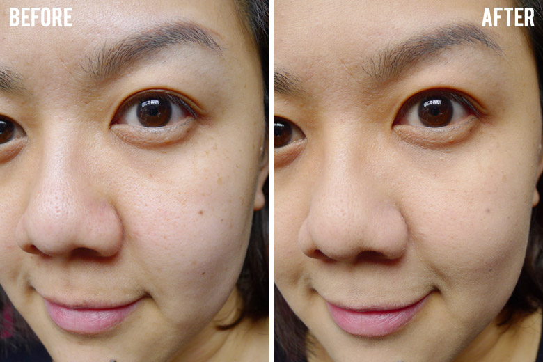 Shu Uemura Skin:FIT Cosmetic Water Foundation Before and After