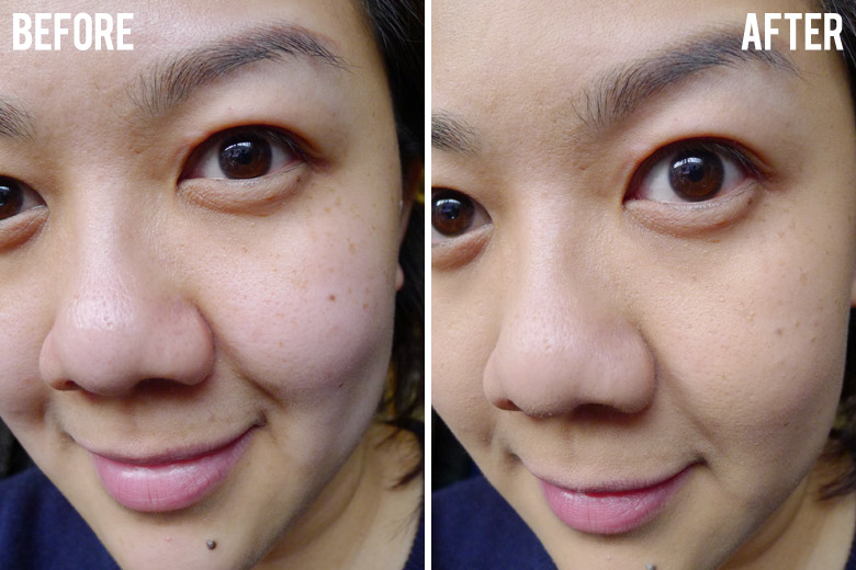 Maybelline Fit Me Matte Foundation Before and After