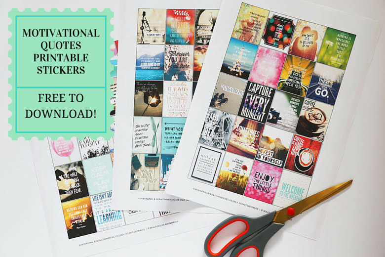 image about Free Printable Stickers identify Cost-free Down load: Motivational Printable Stickers For Your Planner
