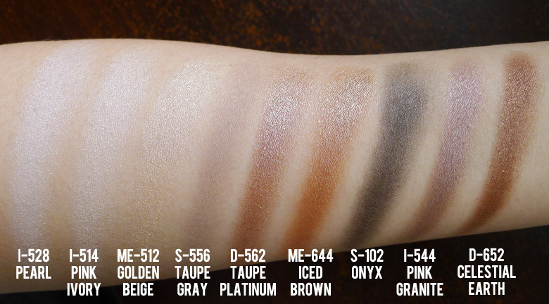 Make Up For Ever Palette 9 Artist Shadow #1 Swatch
