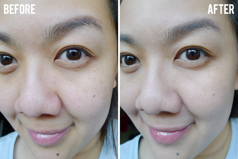 Banila Co It Radiant CC Melting Foundation Before and After